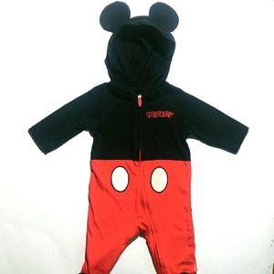 0-3M Mickey Costume Onesie